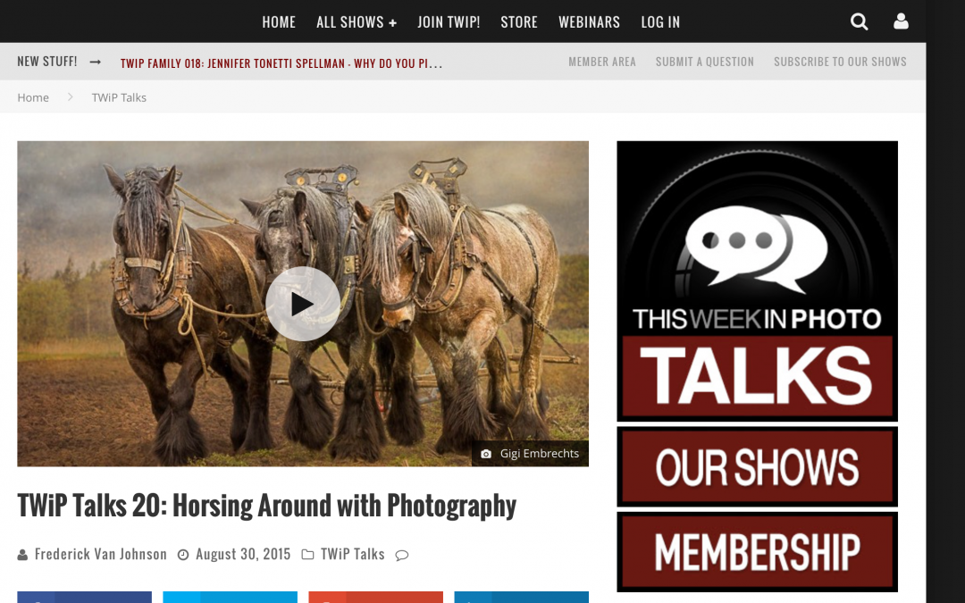 "Interviewed on ""This Week in Photography"" TWIP and Frederick Van Johnson"