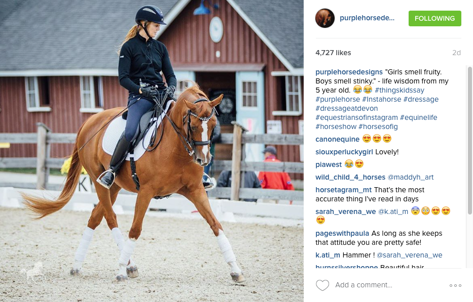 Purple Horse Design One Instagram Post Example
